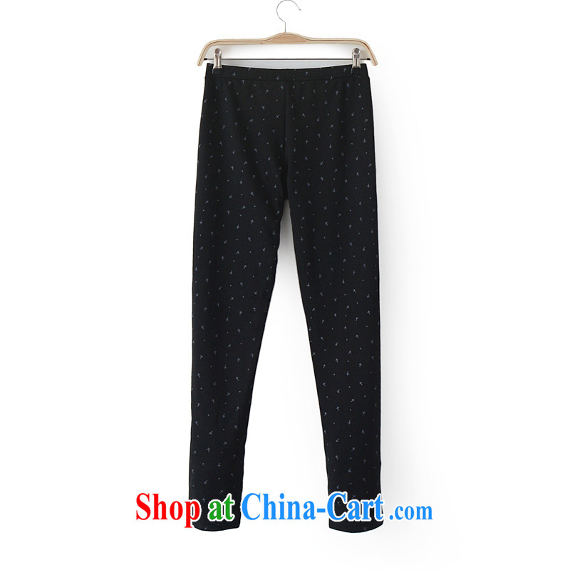 New autumn loaded thick mm large foreign trade code Solid pants outside Europe through castor pants pants King code 200 Jack Ksj black 9