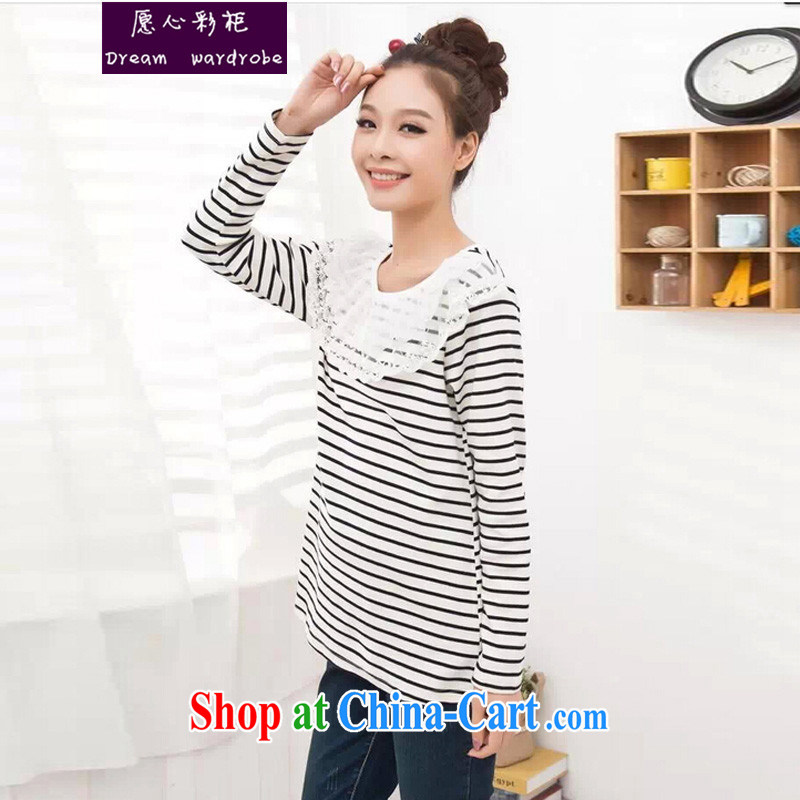 would like to heart Color cabinet 2014 autumn pregnant women with autumn and the streaks Leisure package long-sleeved shirt T pregnant women sweater solid shirt pregnant women with long-sleeved T ? jm black-and-white striped XL