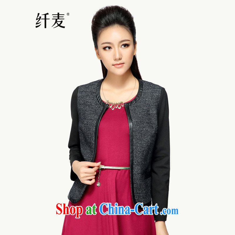 The Mak is the girl with early autumn 2014 the new thick mm stylish tile solid-colored loose long-sleeved jacket 43,362 gray 5 XL