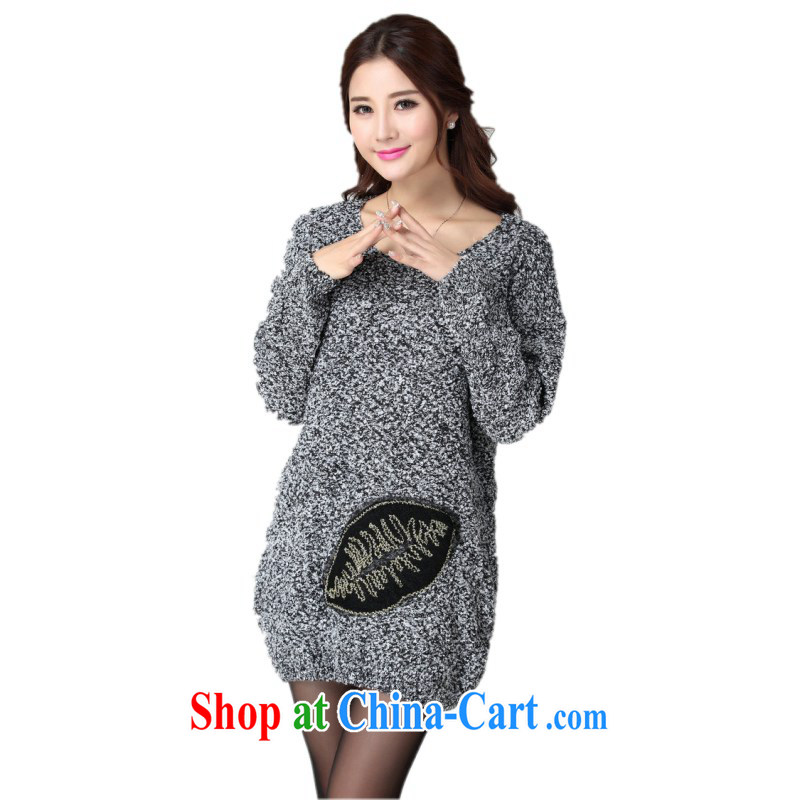 The delivery package as soon as possible e-mail mm thick Winter Sweater dress Warm thick plush gagged them knitted gown long-sleeved Leisure package and dress codes and gray codes are approximately 130 - 190 jack