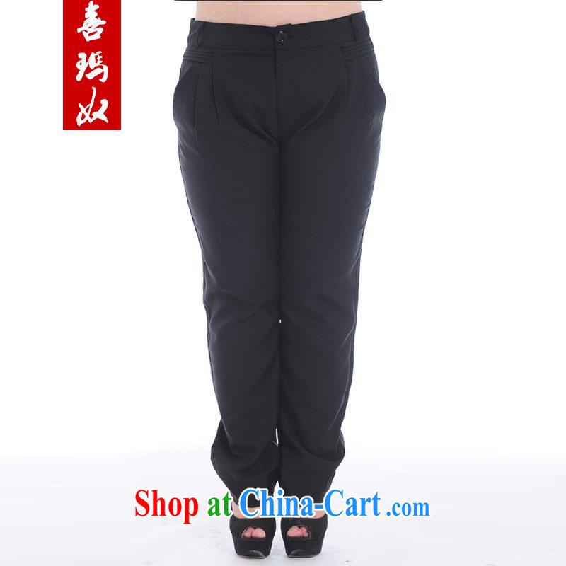 Hi Margaret slavery summer maximum code female increase the obesity MM cultivating graphics thin stylish 100 ground pants trousers A 6519 Black/pants 2 XL 150 Jack the following