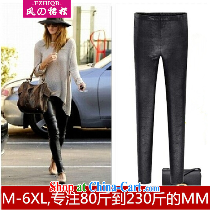 Classic honey snow fall 2014 with foreign trade in Europe and America's largest licensing the code thick MM emulation, serpentine snake solid pants black large code 6 XL
