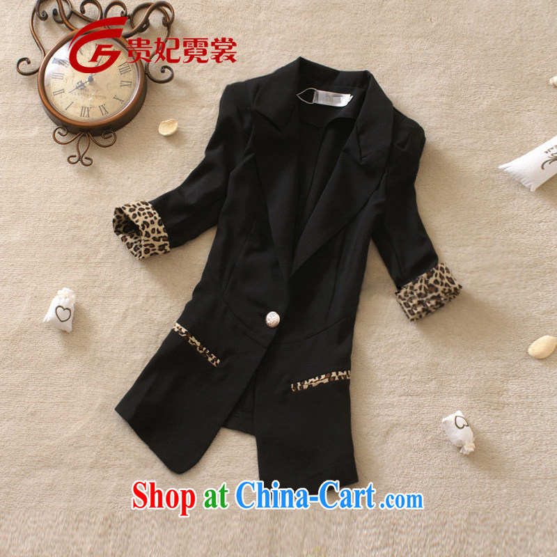 queen sleeper sofa Ngai advisory committee 2015 thick MM spring new king, female small suits graphics thin 7 cuff Leopard and fat XL small suit jacket black 4XL