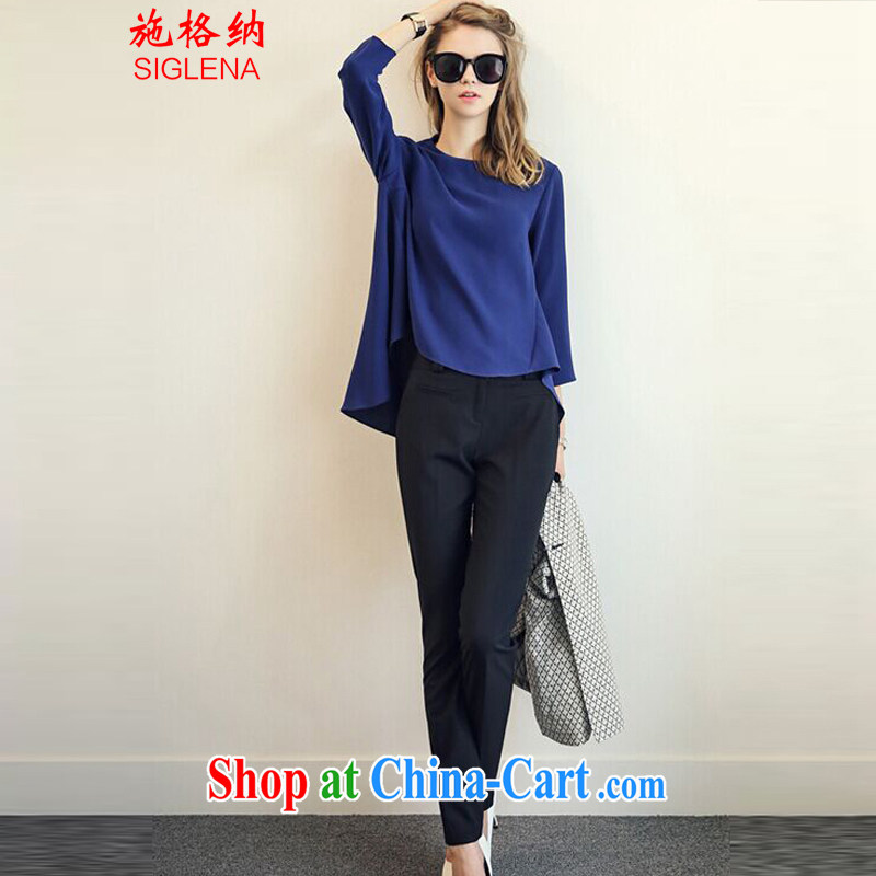 The rate of fall 2015 New Package Women fashion style thick MM and indeed intensify, loose T-shirt 9 pants Leisure package Women 9859 photo color XXXL