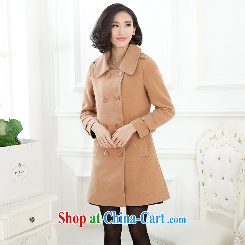 Increase the fat XL women mm thick winter 2015 the new female double-long in cultivation, so gross jacket card with 4 XL recommendations 165 - 180 jack