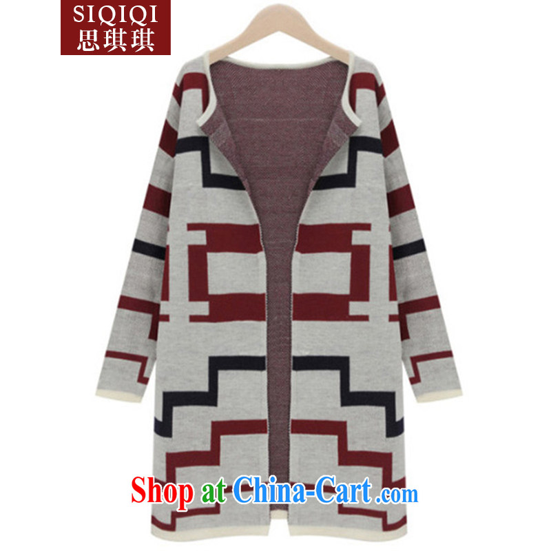 The Qi Qi (SIQIQI) Autumn 2014 the new thick MM Europe solid color pattern is the girl with the long, knitted shirts ZZS 1022 photo color 3XL
