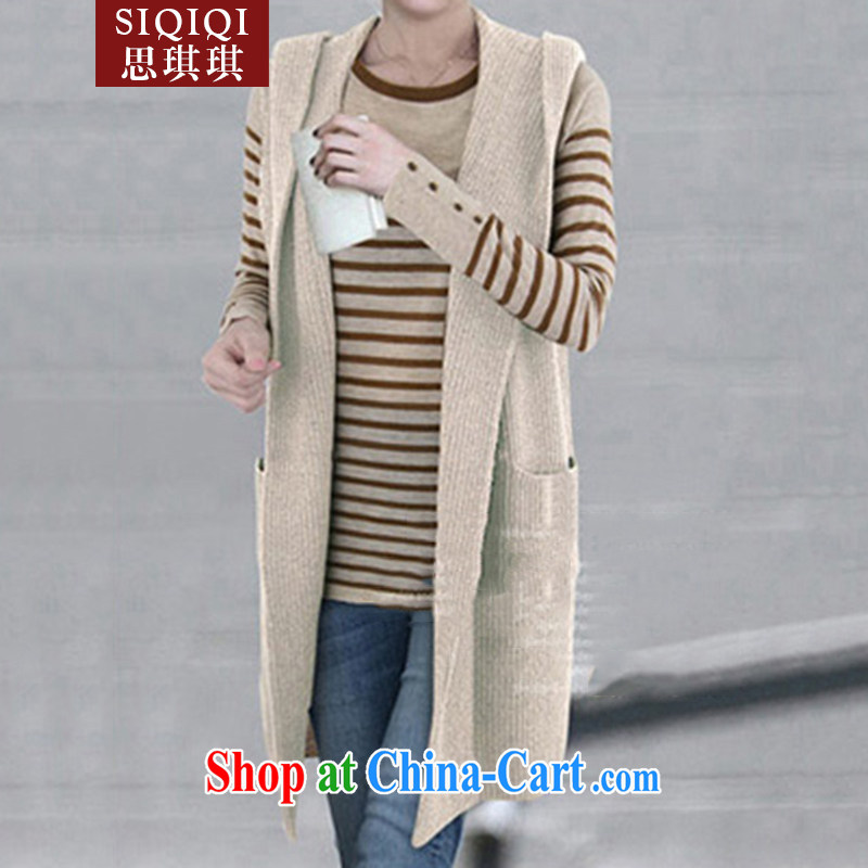The Qi Qi (SIQIQI) Spring 2015 new centers in Europe and America MM larger, long, Ma folder solid color the Code women 1005 MJ light gray 3 XL