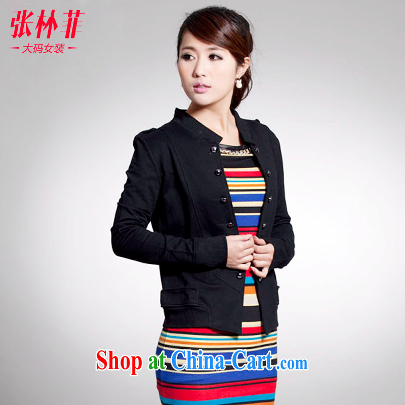 Zhang Lin , thick mm spring new 2015 larger female thick sister jacket jacket, the Netherlands small suit black 4 XL recommendations 180 - 200 jack, Zhang Lin (ZHANGLINFEI), shopping on the Internet