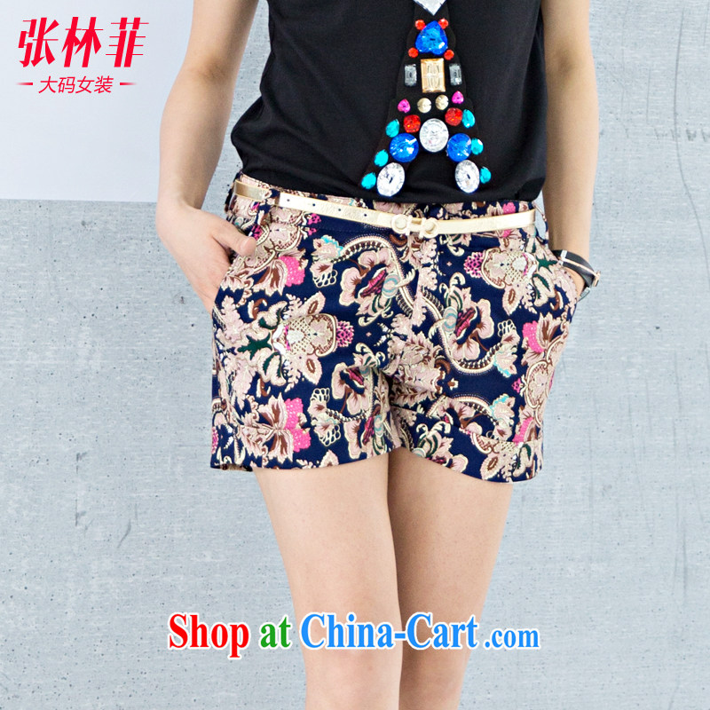 Zhang Lin , thick mm summer 2015 New, and indeed increase, female fat sister summer King, female shorts 200 Jack leisure hot pants as the color 4 XL recommendations 160 - 175 jack
