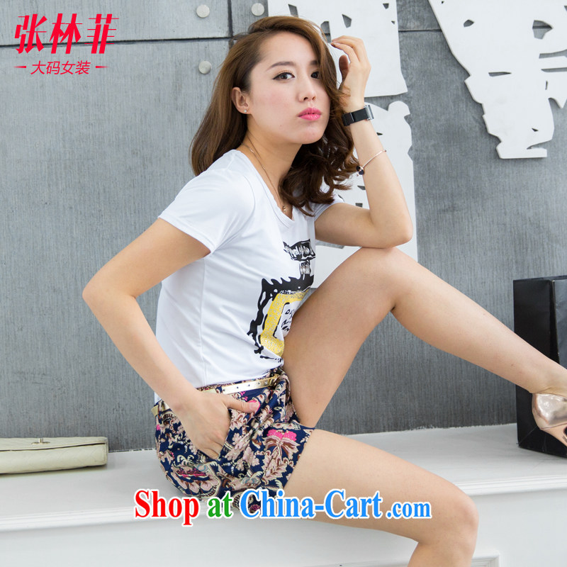 Zhang Lin , thick mm summer 2015 New, and indeed increase, female fat sister summer King, female shorts 200 Jack leisure hot pants as the color 4 XL recommendations 160 - 175 jack, Zhang Lin (ZHANGLINFEI), online shopping