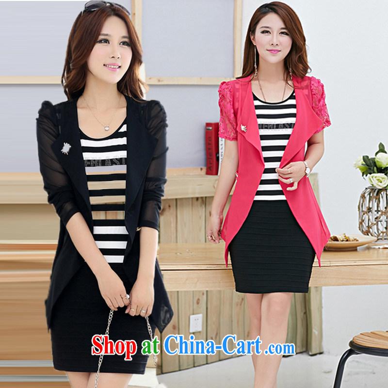 red star New Set the dress code dress lace dress Kit two-piece female Tibetan cyan 5 XL
