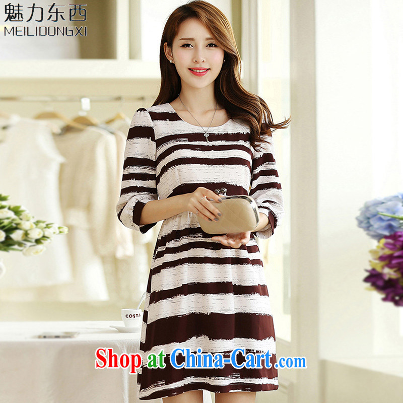 What charm summer 2015, new, larger female decoration, dress thick MM long skirt Womens T 2668 photo color XXXXXL