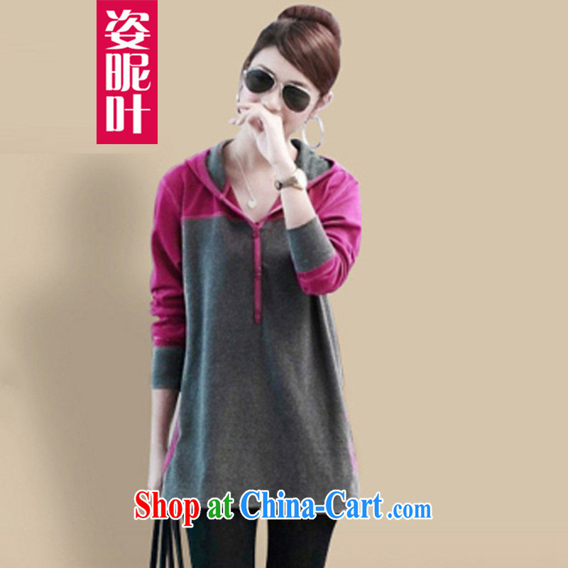 colorful nicknames, Autumn 2014 the new emphasis on MM is indeed the XL female long-sleeved T-shirt Han version thick sister solid shirt Y of 2256 red XL