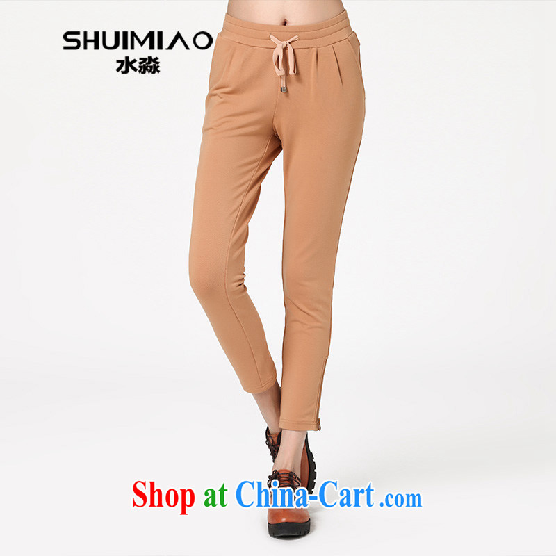 Water by autumn 2014 the new, larger, more generous waist pant graphics thin female pants trousers S QW 14 3593 card 3 XL