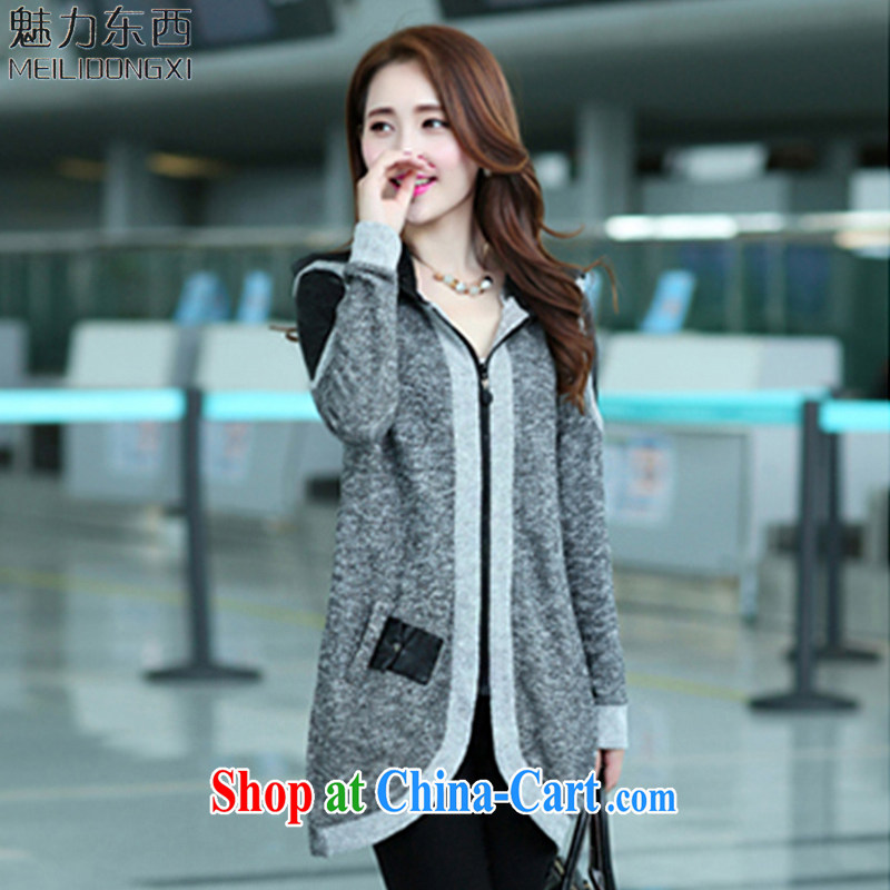 What charm spring 2015, focusing on people's congress, female video thin long jacket, Womens T 827 gray XXXL
