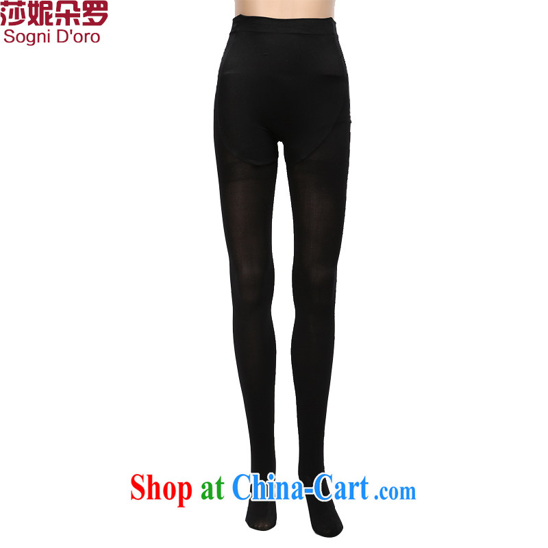 Laurie, flower package mail XL women pants solid thick sister summer socks solid pants 8888 black are code (thick)