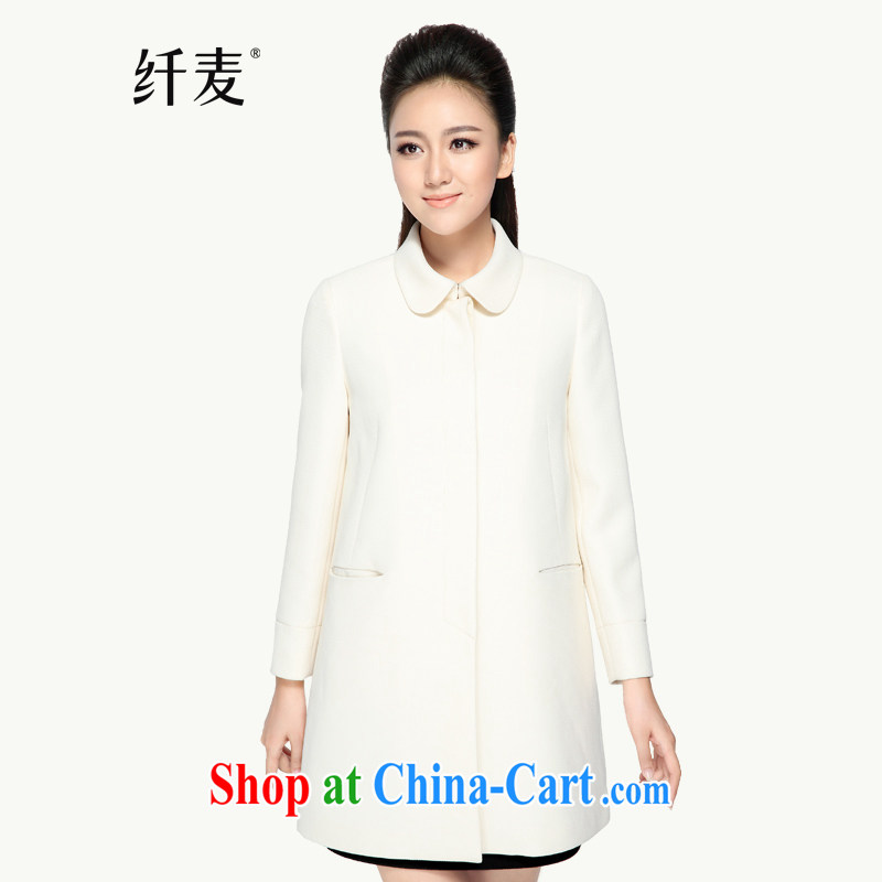 The Mak is the girl with early autumn 2014 the new thick mm stylish 100 ground long-sleeved jacket, long, 43,378 white 6 XL