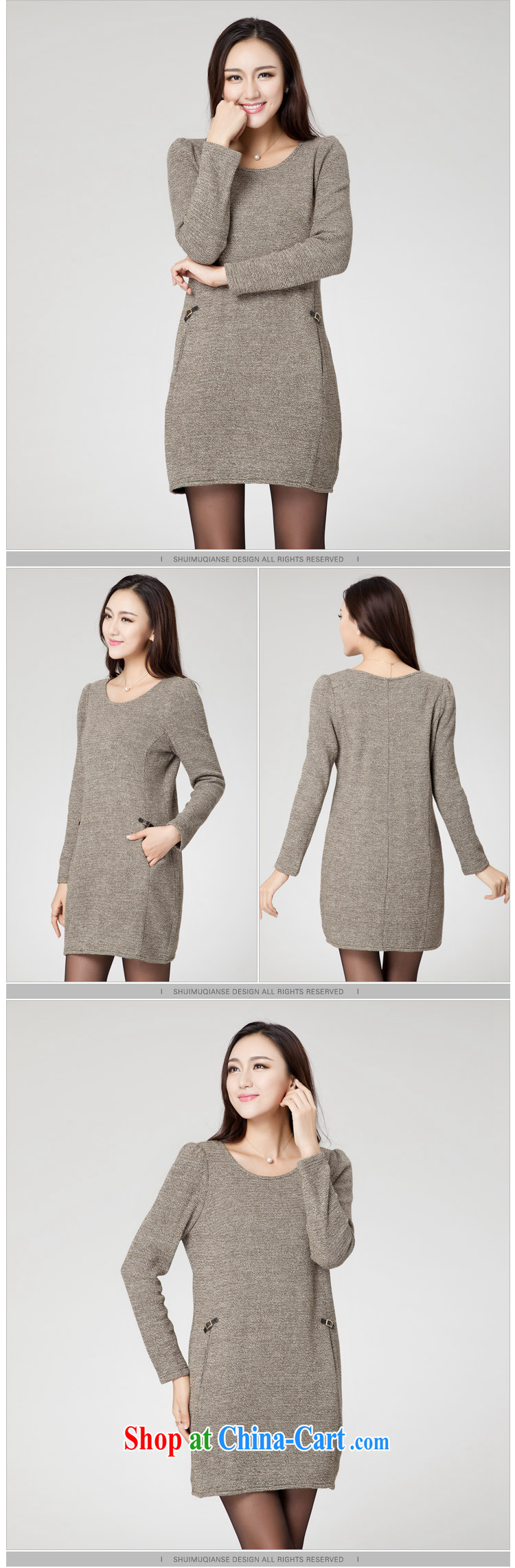 Huan Zhu Ge Ge Ge new Korean version XL girls thick MM graphics thin round-collar beauty loose knitted dresses SM 38 gray 4 XL (191 jack - 210 Jack through) pictures, price, brand platters! Elections are good character, the national distribution, so why buy now enjoy more preferential! Health
