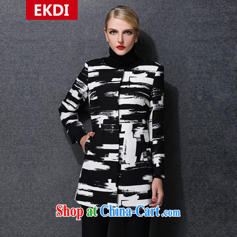 The silk, honey King, women's clothing, thick graphics thin winter clothing relaxed beauty coat thick coat ZZ 1578 photo color 5 XL _186 jack - 210 Jack through_