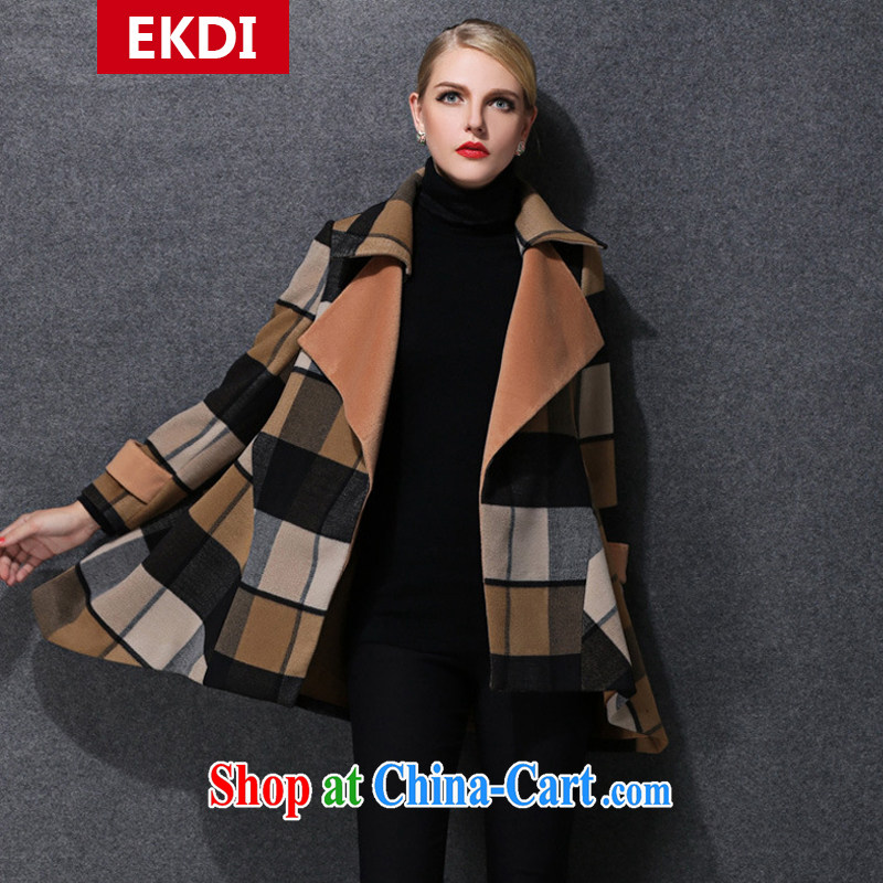 The silk, honey King, women thick MM graphics thin 2014 winter clothing relaxed beauty is a coat thick coat ZZ 1579 photo color 2XL _141 jack - 155 Jack through_