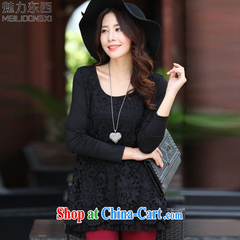 What charm summer 2015, the Code women T long-sleeved shirt T-shirt T 8878 black XXXXL