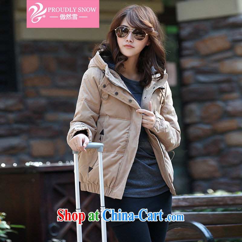 And so snow Korean version 2014 the code female loose short jacket female DMYRF 61 light coffee larger XL