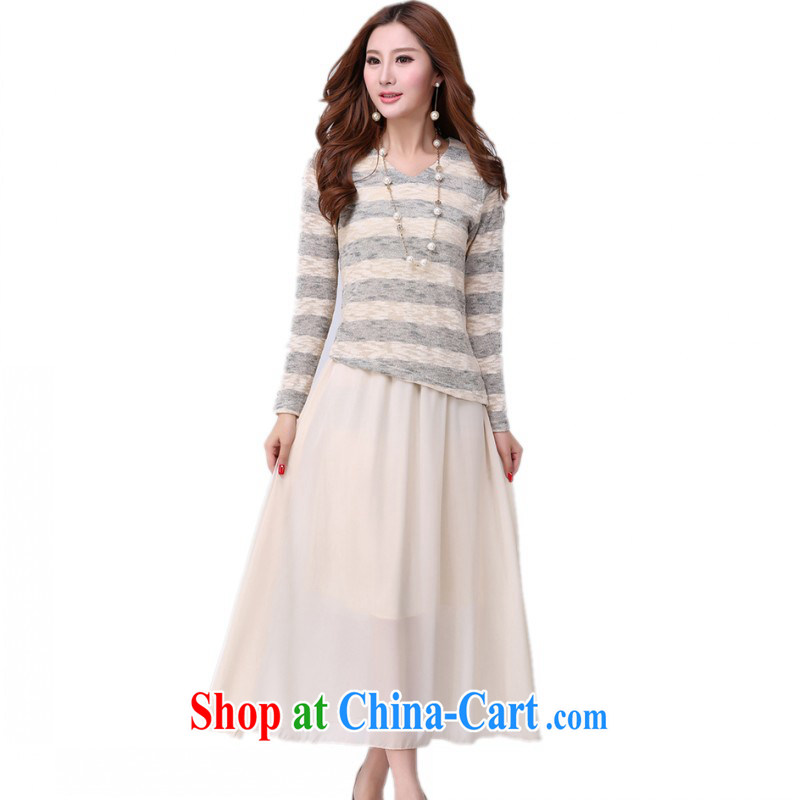 The delivery package as soon as possible-king, the fat girl with two-piece snow-woven long skirt autumn new knitting long-sleeved shirt vest the waist dress mm thick Map Color 4 170 XL about Jack