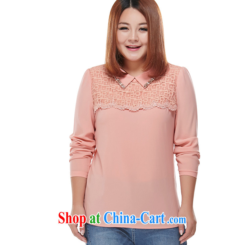 MSSHE XL shirt long-sleeved T-shirt pink 6XL