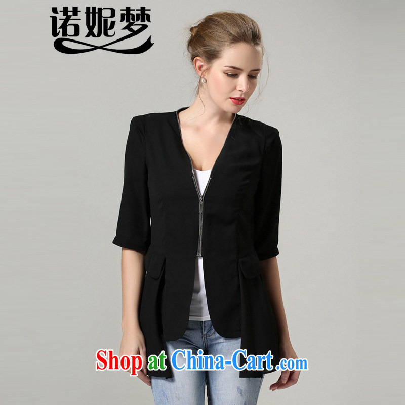 Connie's dream 2014 autumn and winter the new Europe and indeed the XL female 200 Jack temperament beauty suit stylish graphics skinny jacket s 1189 black XXXXXL