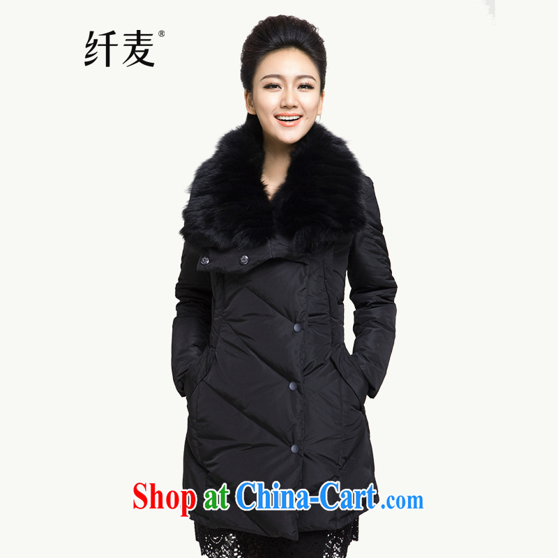 The Mak is the women's clothing 2014 winter clothing new, mm thick hair and leisure brought down the long black 844121028 6 XL