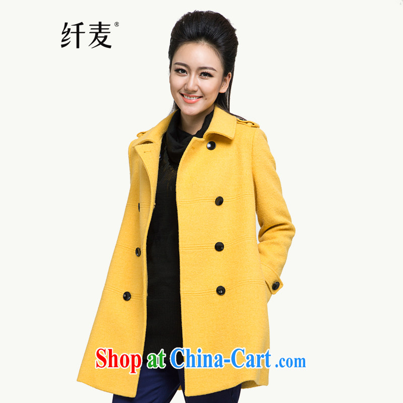 Slim, Mr Big, women winter 2014 the new thick mm stylish slim body, long hair coat is 944187092 yellow L