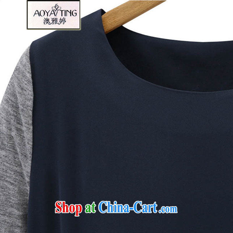 o Ya-ting spring 2014 new female and indeed XL solid T-shirt American style t-shirt long-sleeved T-shirt girls 588 dark blue 5 XL recommendations 175 - 200 jack, O Ya-ting (aoyating), online shopping