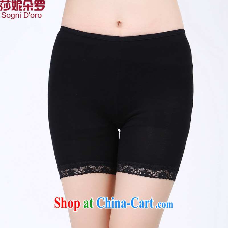 200 Jack larger female solid pants thick sister summer is the XL girls pants thick girls with graphics thin anti-Go pants 6666 black 3 XL