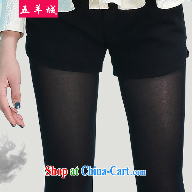 Five Rams City The Code women fall_winter with thick, graphics thin, Jack 200 mm thick and Leisure loose women replacing graphics thin Korean version so gross shorts hot pants 021 black 209 XXXL_recommendations 150 about Jack