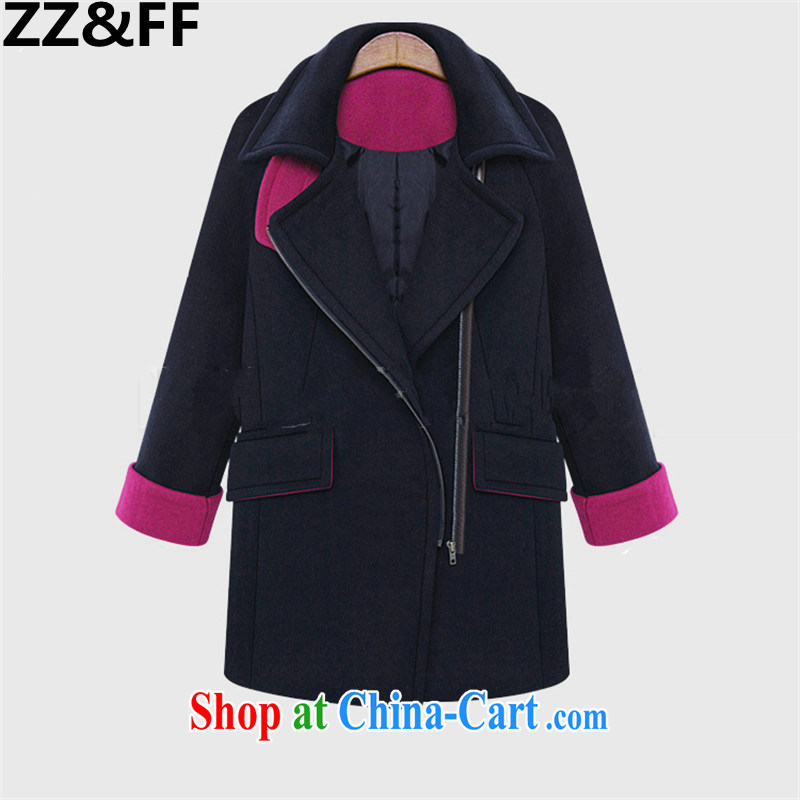 ZZ &FF and indeed increase Code women mm thick 2015 spring new contributions jacket, long hair, then Coat female Tibetan cyan XXXXXL