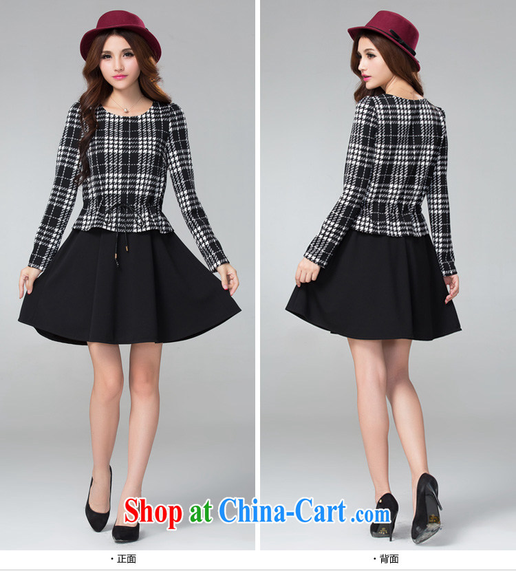 cheer for thick MM autumn and winter, the larger female black-and-white, thick sister graphics thin false 2 long-sleeved dresses Item No. 2300 black 2 XL pictures, price, brand platters! Elections are good character, the national distribution, so why buy now enjoy more preferential! Health