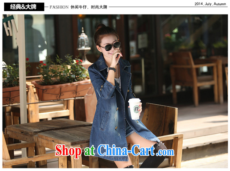 The Oi-fong 2015 new Korean long leisure double-cowboy wind jacket women picture color XXXL pictures, price, brand platters! Elections are good character, the national distribution, so why buy now enjoy more preferential! Health