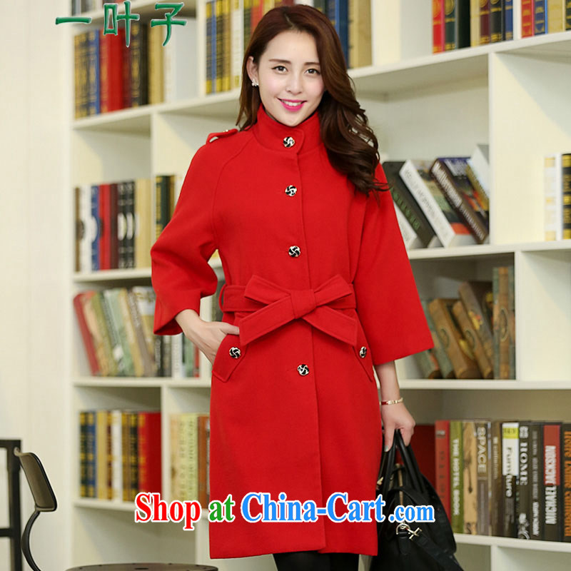 A leaf 2014 winter clothing new and indeed the beauty that coat jacket large, female Red XXXXXL