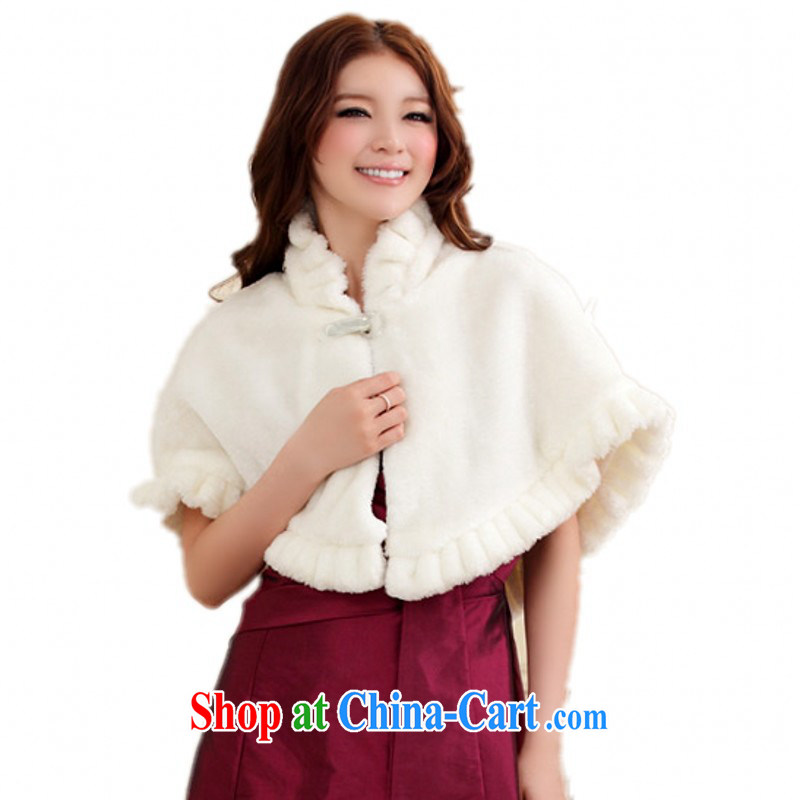 Constitution, colorful Package Mail and ventricular hypertrophy, Du Puntland shawl wedding bridal dresses the fur D. jacket white warm ceremonial dress, shoulder 100 ground white nights are code for 90 - 190 jack