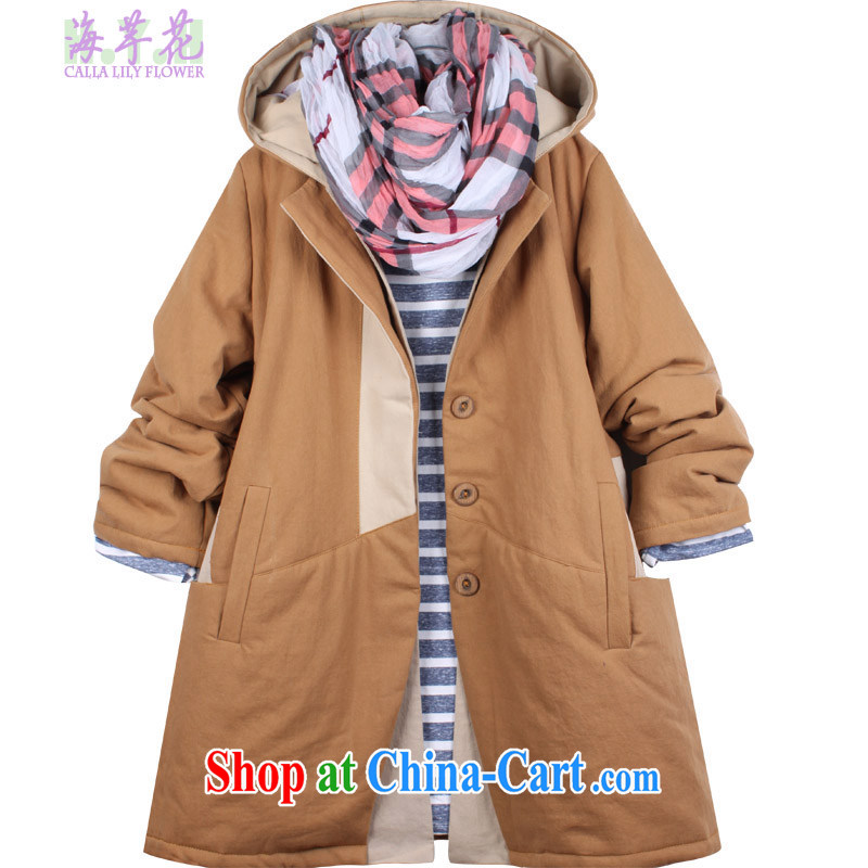 The line to take the spell Color cotton large code quilted coat the commute the Code women thick warm larger jacket 3BC - 1 card its XL