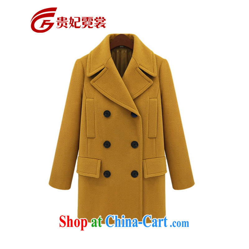 queen sleeper sofa Ngai advisory committee 2014 winter clothing new mm thick and fat XL girls Installed? jacket in Europe and in relaxed long King size, gross jacket? 9687 Kang yellow 5 XL