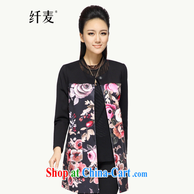 Slim, Mr Big, women fall 2014 with new thick mm stylish floral loose video thin long jacket, suit 43,352 M