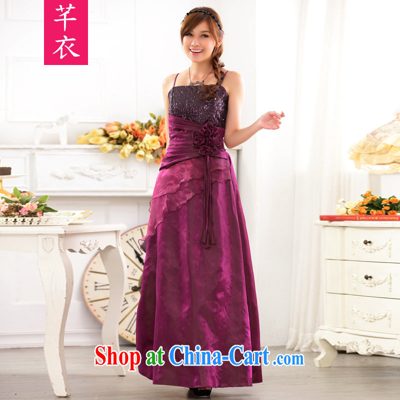 Constitution, indeed, female 2015 mm thick high in Europe and your shoulders beauty evening dress on-chip performance XL straps gown dresses purple XL 3 160 - 180 jack