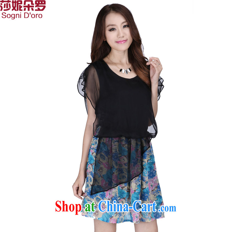 Laurie flower, 2014 new 200 Jack King, female thick mm summer snow woven loose video thin dresses 6237 pattern 3 XL