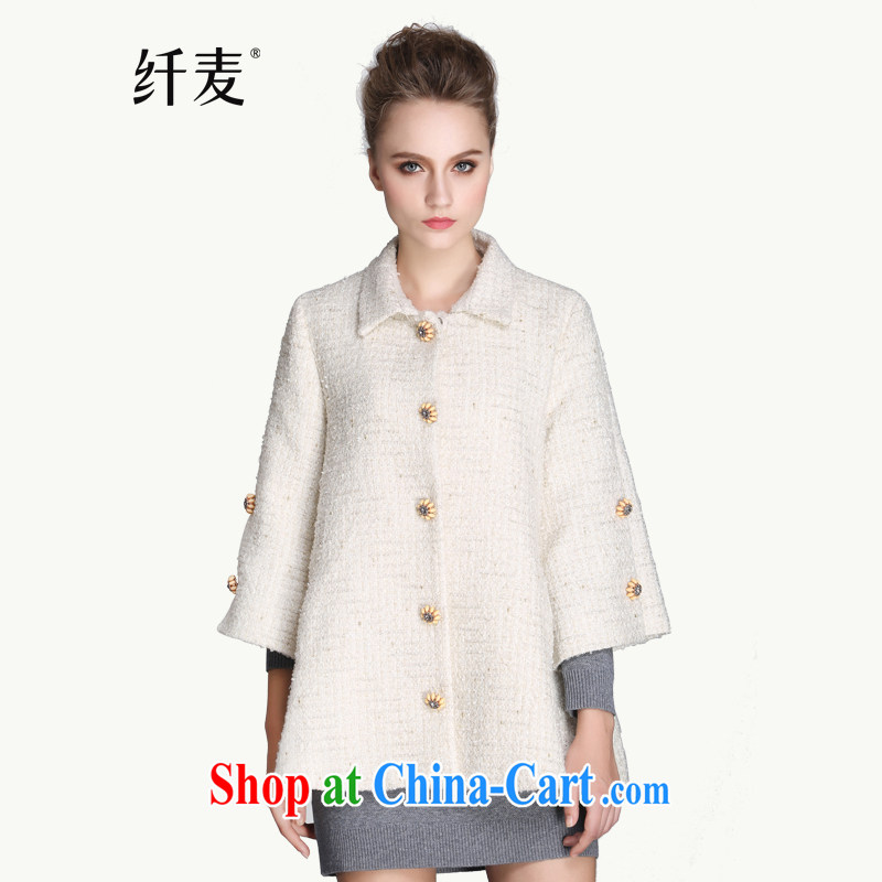 Slim, Mr Big, women winter 2014 with new thick mm stylish horn cuff loose hair? jacket 944047290 White (pre-sale 11.28 6 XL