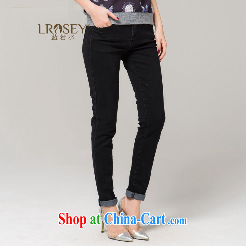 blue water the Code women winter 2014 new graphics thin leisure 100 jeans ground terminal black XXXXL