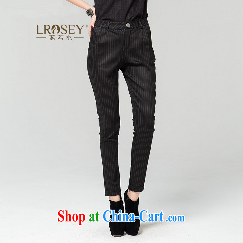 blue water the Code women thick MM 2014 New Style Fashion beauty trousers black XXXXL
