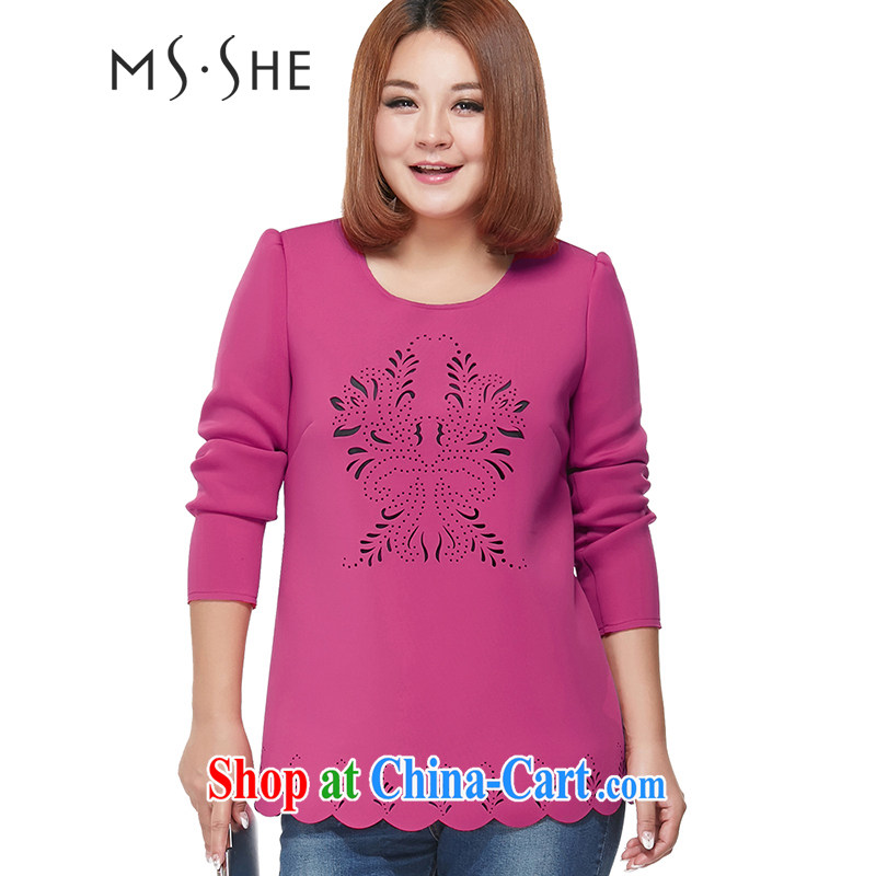 MsShe XL girls thick mm video thin solid shirt T shirts clearance 2186 red 3 XL