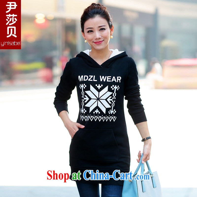 Yoon Elizabeth Odio Benito XL women 2015 spring loaded thick MM long Graphics thin stamp and a lint-free cloth cap sweater jacket woolen sweater black M recommended 85 - 105 Jack left and right