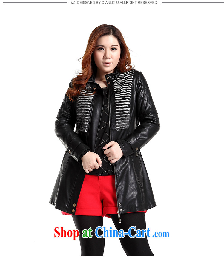 Slim LI Sau 2014 autumn new large, stylish girl decor, leather jacket motorcycle wash water PU leather jacket (the belt) Q 6630 black XL pictures, price, brand platters! Elections are good character, the national distribution, so why buy now enjoy more preferential! Health